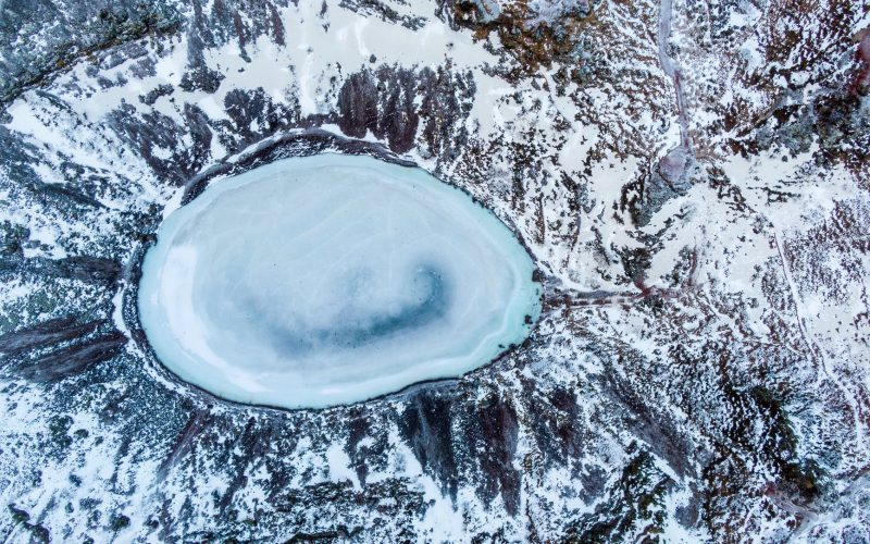 Image of Crater Lake in winters