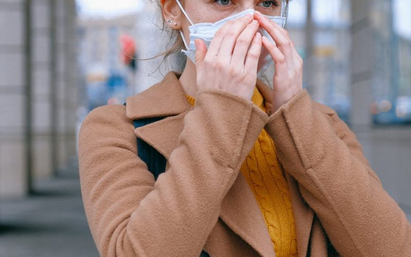 woman preventing air pollution