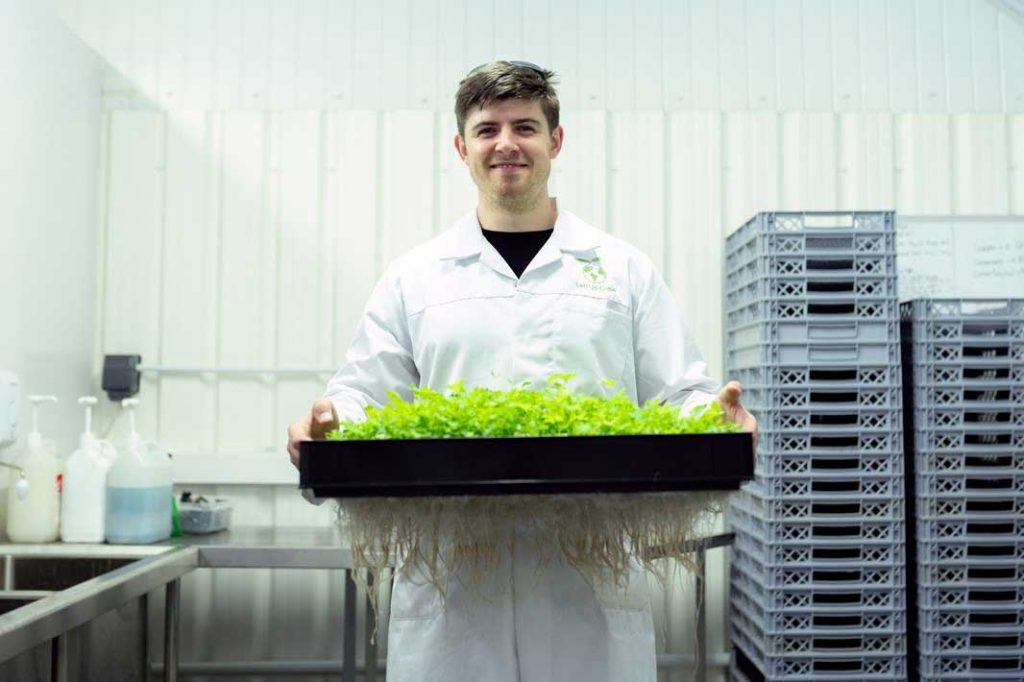Scientist applying Biotechnology in agriculture