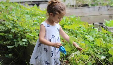 girl trying to improve garden biodiversity